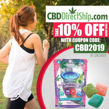 CBD Use promo code CBD2019 at the checkout and get a 10% discount on your entire order plus order free shipping with orders over $100