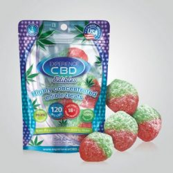 CBD 120mg Strawberry Gummy Cubes