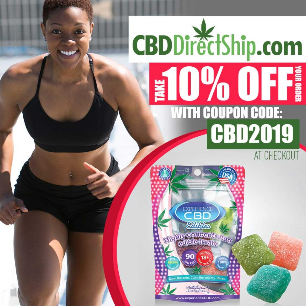 Use promo code CBD2019 at the checkout and get a 10% discount on your entire order plus order free shipping with orders over $100