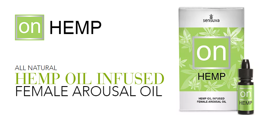 We have added the benefits of hemp seed oil extract to this incredibly powerful arousal oil for women. ON HEMP is all-natural and made with an original blend of pure essential oils and extracts. When applied directly to the clitoris, the fast-acting ON HEMP will dramatically heighten a woman's arousal and give her an exciting sensation that pulsates, vibrates, and tingles the most sensitive part of her sensual body. ON HEMP even makes most women feel as though they are lubricating MORE.